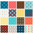 vintage spanish tiles set vector image