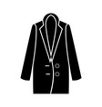 woman overcoat vector image