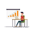 People working at the computer Flat modern vector image