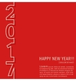 New year 2017 card vector image