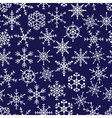 16 types of white snowflakes in seamless pattern vector image vector image