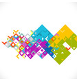abstract colorful and creative mix geometrical vector image vector image