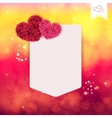 Abstract Valentine or wedding card vector image vector image