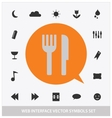 abstract web interface symbols set vector image vector image