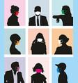 avatars people with masks against viruses vector image