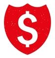 Bank Insurance Shield Grainy Texture Icon vector image vector image