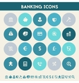 Banking icon set Multicolored flat buttons vector image