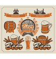 Beer set vector image vector image