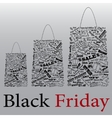 Black Friday the night of discounts Bag vector image