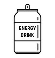 boost energy drink icon outline style vector image vector image