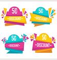 bright discount vector image vector image