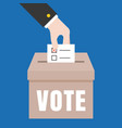 business hand vote for election vector image vector image