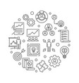 business strategy round in vector image vector image