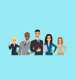 business team people dressed in strict suit vector image vector image