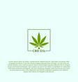 cbd oil logo vector image vector image