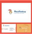 christmas penguin logo design with tagline front vector image vector image