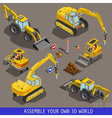 City Construction Transport Isometric Flat 3d Icon vector image vector image