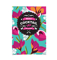 Cocktail bar menu template design vector image vector image