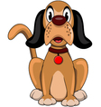 cute dog cartoon sitting vector image vector image