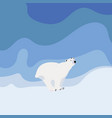 cute polar bear set vector image