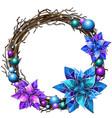 decoration christmas wreath interwoven branches vector image vector image