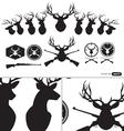 Deer Hunter Heads set vector image vector image