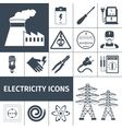 Electricity Icons Black Set vector image
