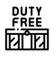 entrance to duty free shop icon outline vector image vector image