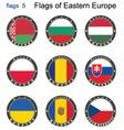 flags eastern europe vector image