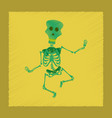 flat shading style icon skeleton halloween monster vector image vector image