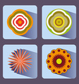 Flowers icon set vector image vector image