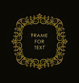 frame in outline style on black background vector image vector image