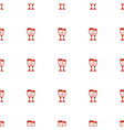 glasses clink icon pattern seamless white vector image vector image