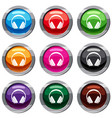 headphone set 9 collection vector image vector image