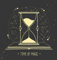 hourglass and astrology constellation horoscope vector image