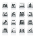 internet and office icons vector image vector image