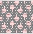 kawaii pattern seamless cute cartoon funny vector image