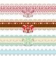 lace ribbons vector image