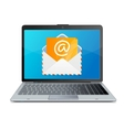 laptop and mail vector image