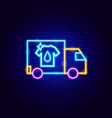 laundry delivery neon sign vector image