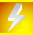 lighting bolt sparkle shape lighting bolt vector image vector image