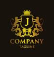 luxury letter j logo vector image