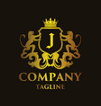 luxury letter j logo vector image vector image