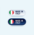 made in italy sign in two color styles vector image vector image