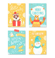 merry christmas warm wishes vector image vector image