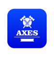 military axe icon blue vector image vector image