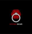 mysteria escape logo vector image vector image