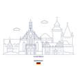 nuremberg city skyline vector image vector image