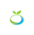 organic green leaf logo vector image vector image