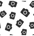 photo camera icon seamless pattern background vector image